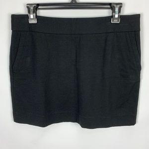 NWT Ann Taylor LOFT Sz 8 Black Skirt Mini Short